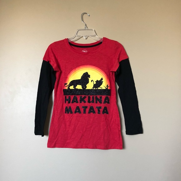 fa7d31d2 Disney Shirts & Tops | Lion King Hakuna Matata Long Sleeve Shirt ...